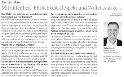 """Interview Magazin """"Charakter"""" – Mai 2017"""